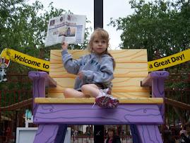 Annika outside of Six Flags