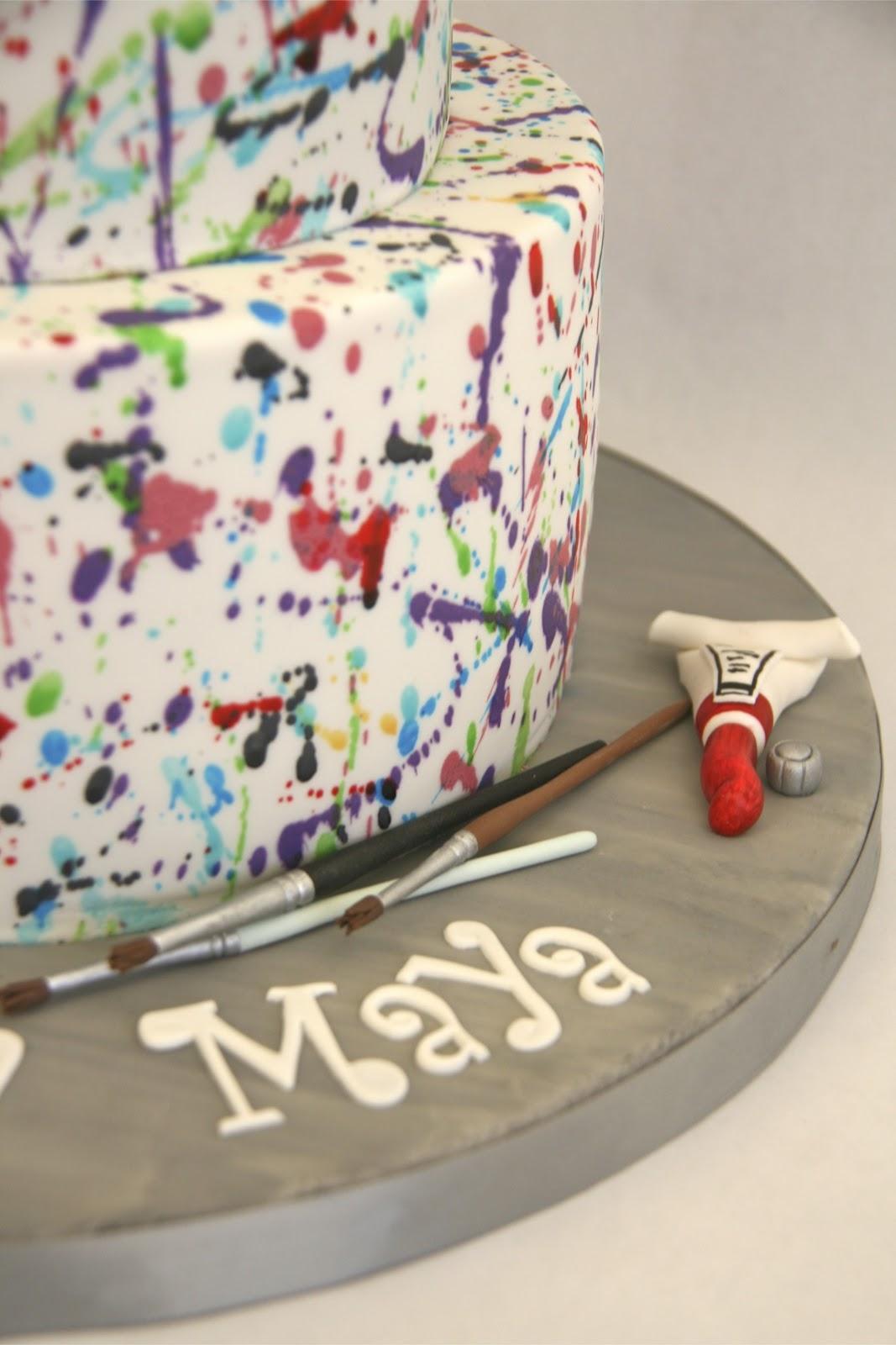 Sweet Cake Design Paint Splatter Cake