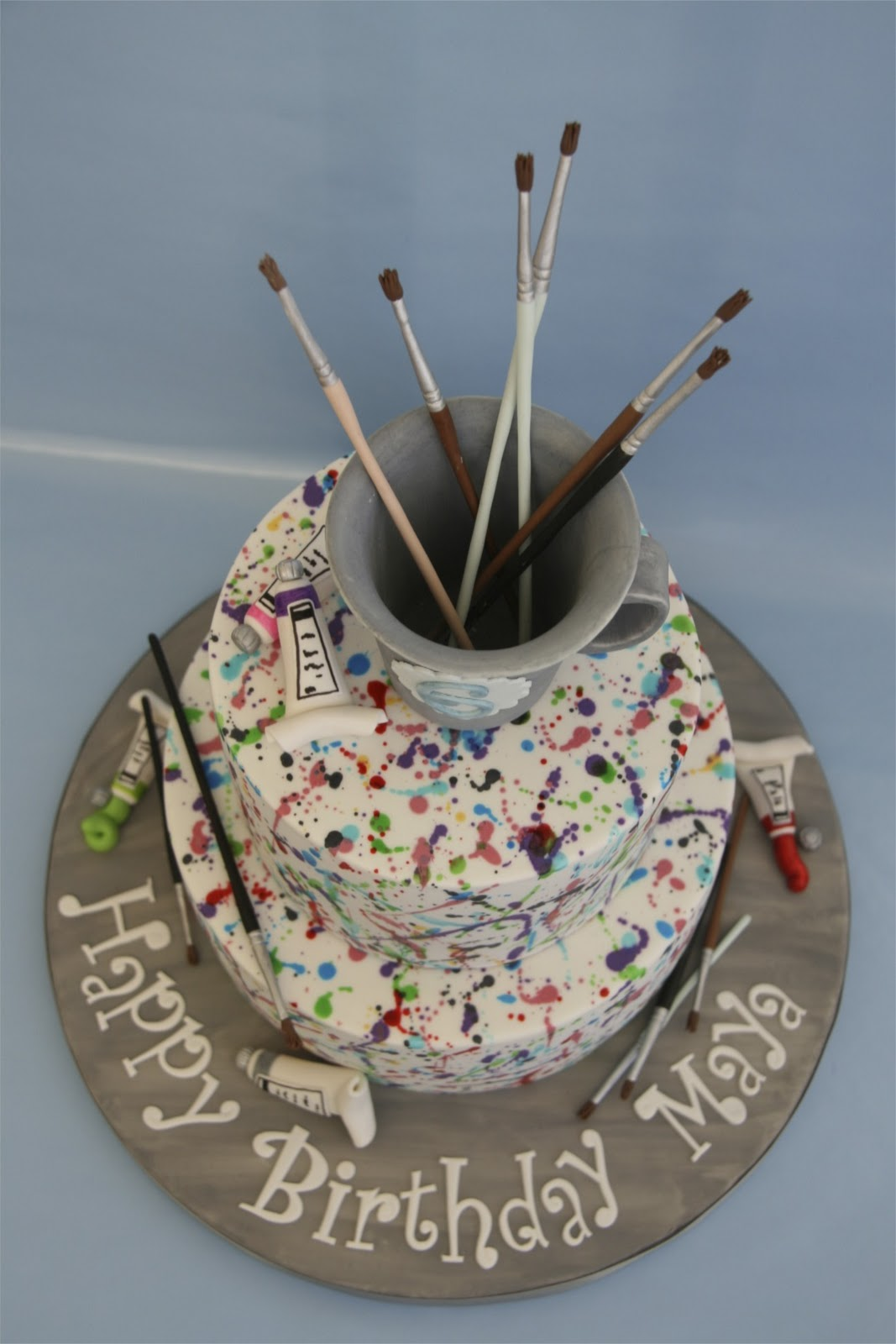 Sweet Cake Design Paint Splatter Cake