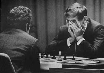 le match d'échecs mythique de 1972, entre l'américain Bobby Fischer et le soviétique Boris Spassky
