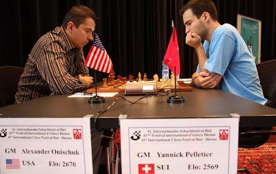 Le tournoi d'échecs de Bienne © photo Olivier Breisacher