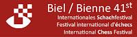 le logo du festival d'échecs de Bienne