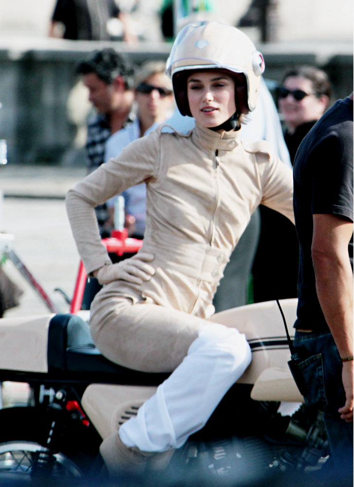 Keira Knightley On A Cafe Racer Return Of The Cafe Racers