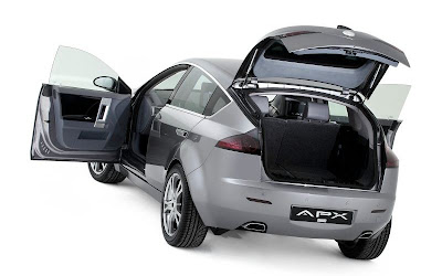 ZAP-X Crossover Electric Car (back, doors open)