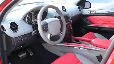 Mercedes-Benz ML350 Ferrari Red by ART (interior)