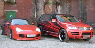 Edo Competition tunes VW Touareg (with a Porsche coupe)