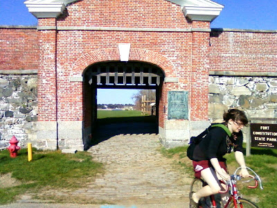 Cycling through historical forts near Portsmouth New Hampshire