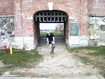 Biking New England historical Fort Constitution