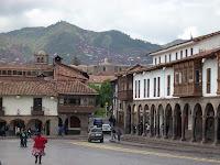 Visão da paisagem de Cusco