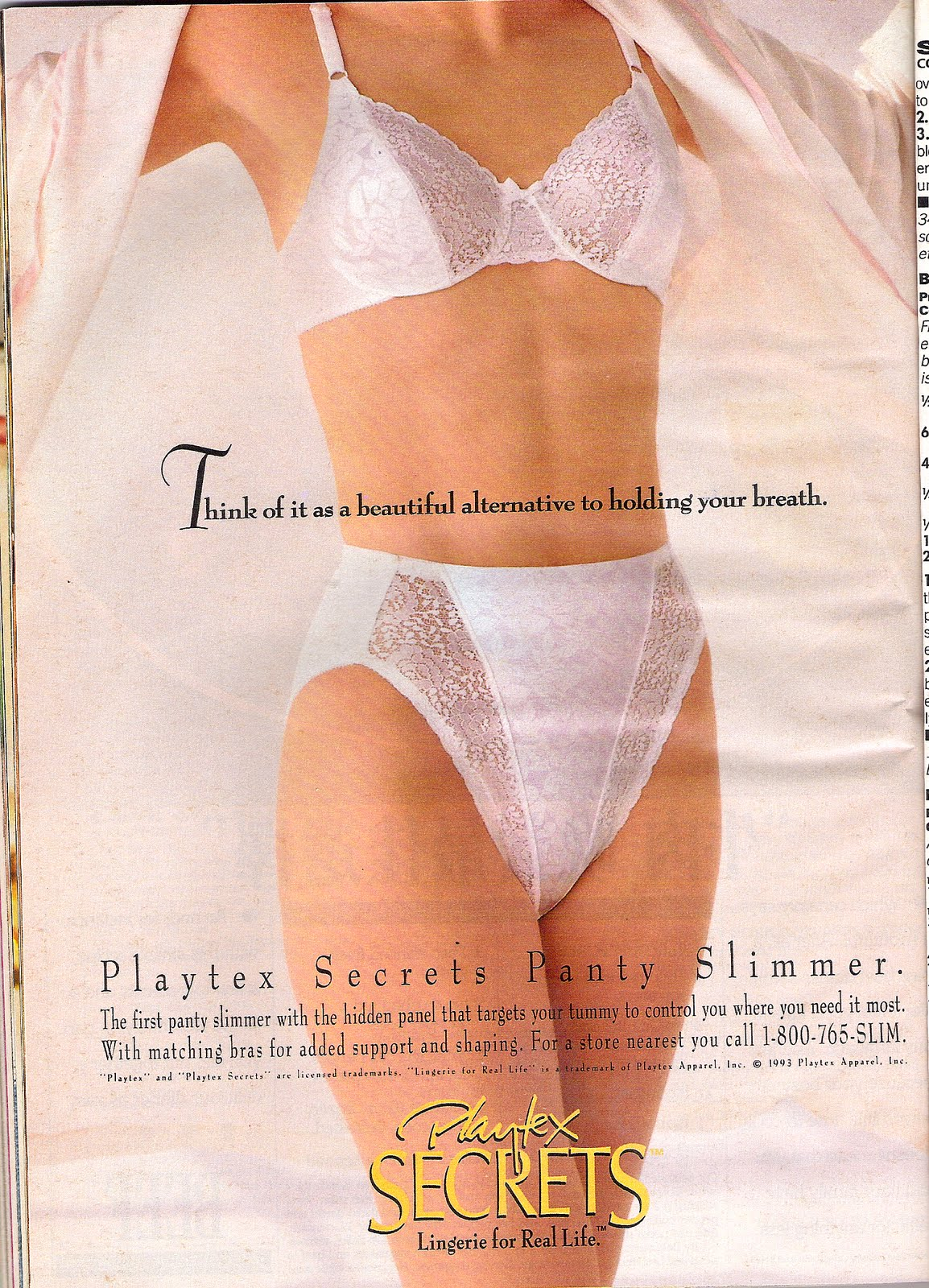 b38d08113d89a Woman s Day Ads from the 90 s  Playtex Panties ad from the 1990 s