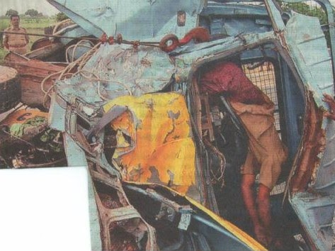 Indian Road Accidents: Tempo collided with a truck in Chennai
