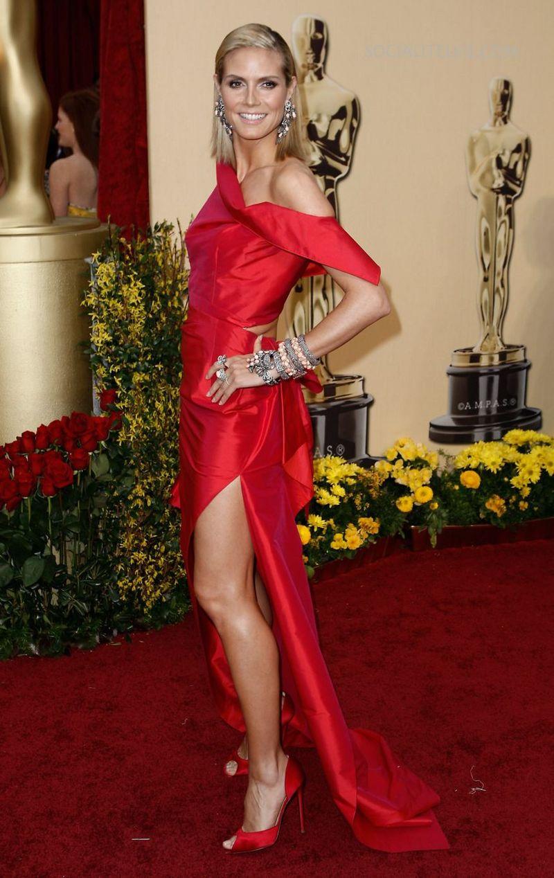 Exclusive Celebrity Shoes Heidi Klum Red High Heels