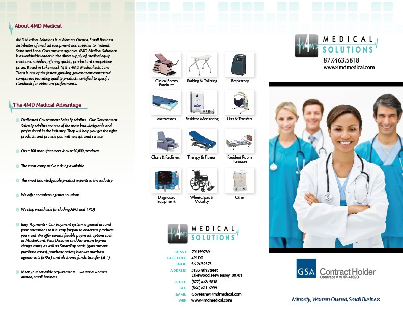 Wii Creative: Brochure for Medical Supply Company