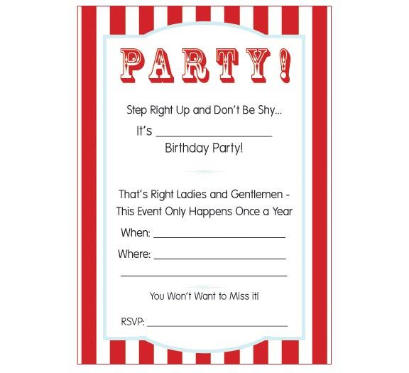 Movie Themed Invitation Template carnival themed invitations – Movie Ticket Invitations Template