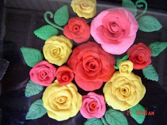 Polymer clay Roses  made by me