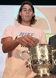 Rafael Nadal en el sorteo de Roland Garros