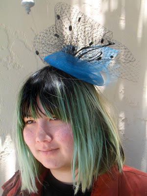 0679b10468aa31 Pictured above is Andrea, 19 years old, who is currently on summer break  from fashion school in Los Angeles. She made this fantastic piece with  millinery ...