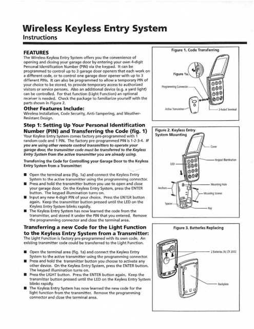 Garage Door Zone Blog Marantec M3 631 Keyless Entry