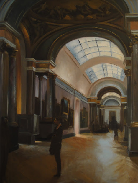 Jonelle Summerfield Oil Paintings Louvre Interior Ii