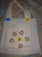 bolsa de pano com flores