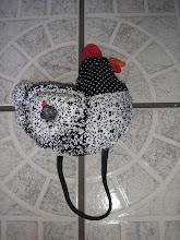 porta pano de prato galinha