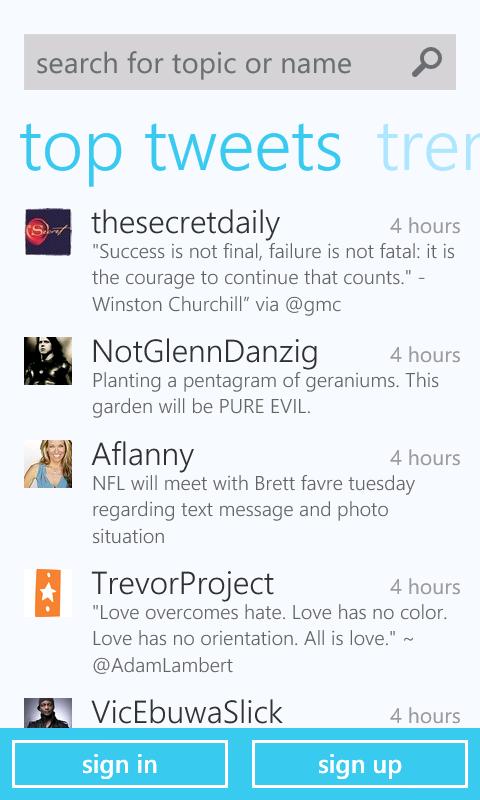 twitter1 - Twitter para Windows Phone 7