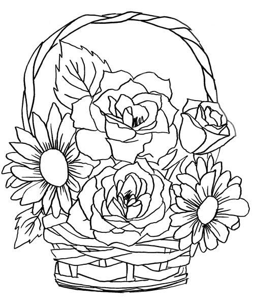 Flor Rosas Para Colorir Mais Flores Para Colorir Desenhos Para
