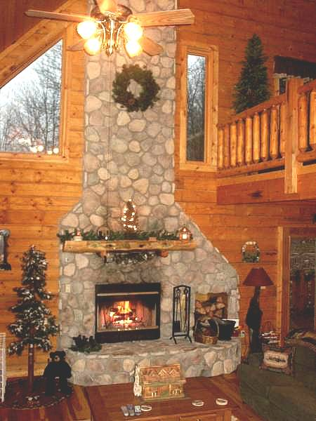 Artificial Stone For Your Log Cabin Fireplace