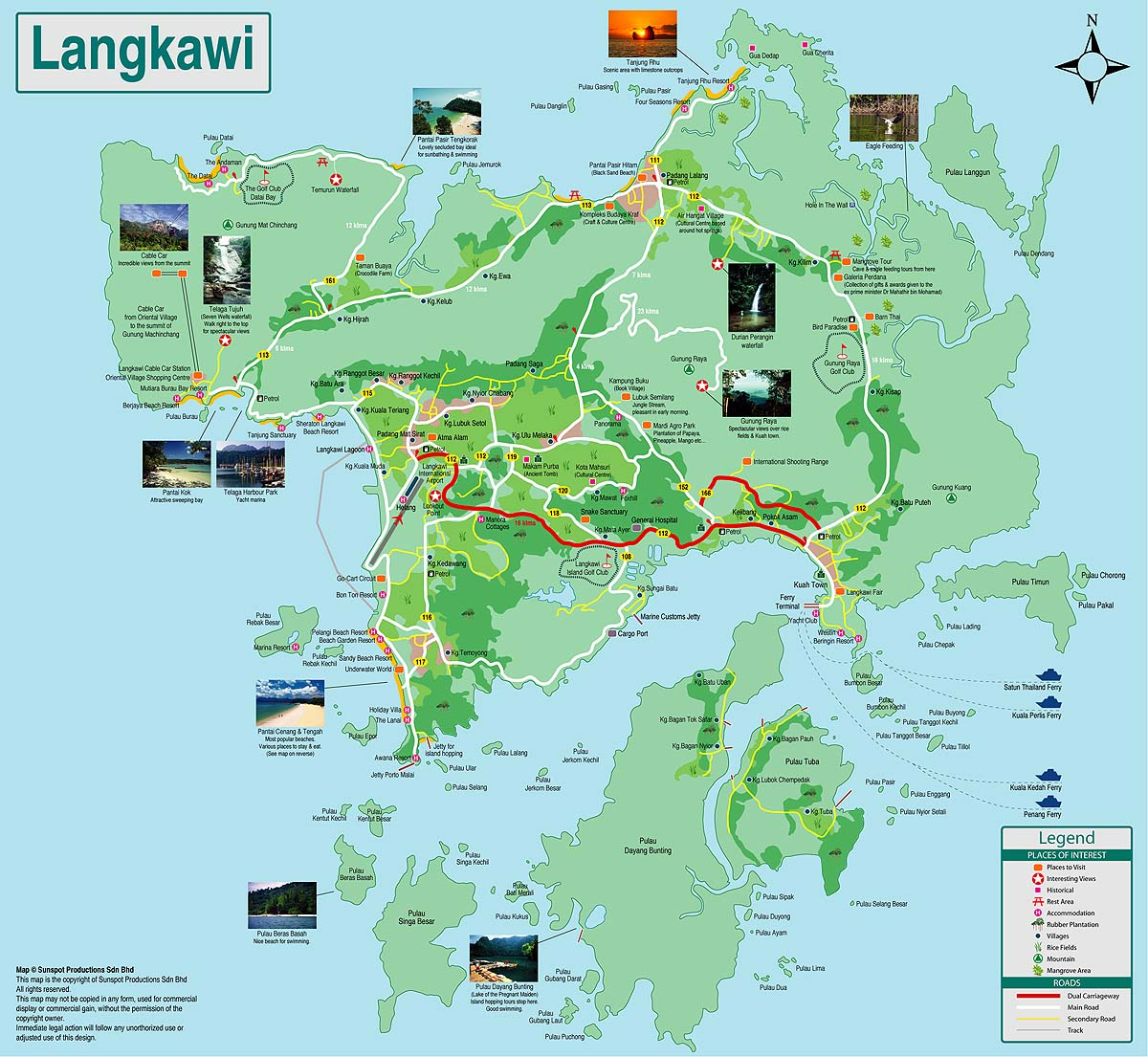 Langkawi Island: .going Everywhere For Catching Up The Journey.: Langkawi's Map