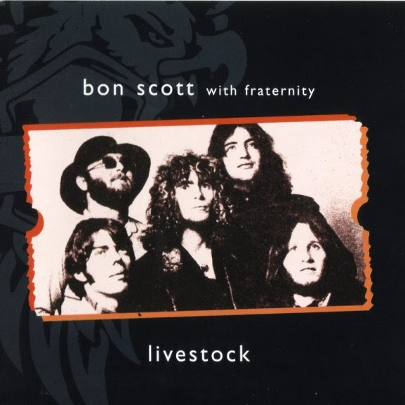 Rock On Vinyl Fraternity Livestock 1971 Featuring Bon