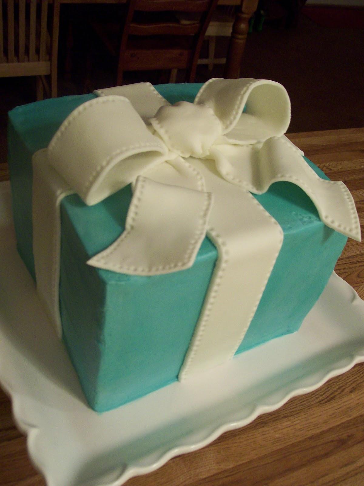 Van Earl's Cakes: Tiffany Blue Bridal Shower Cake  Tiffany Bridal Shower Cakes