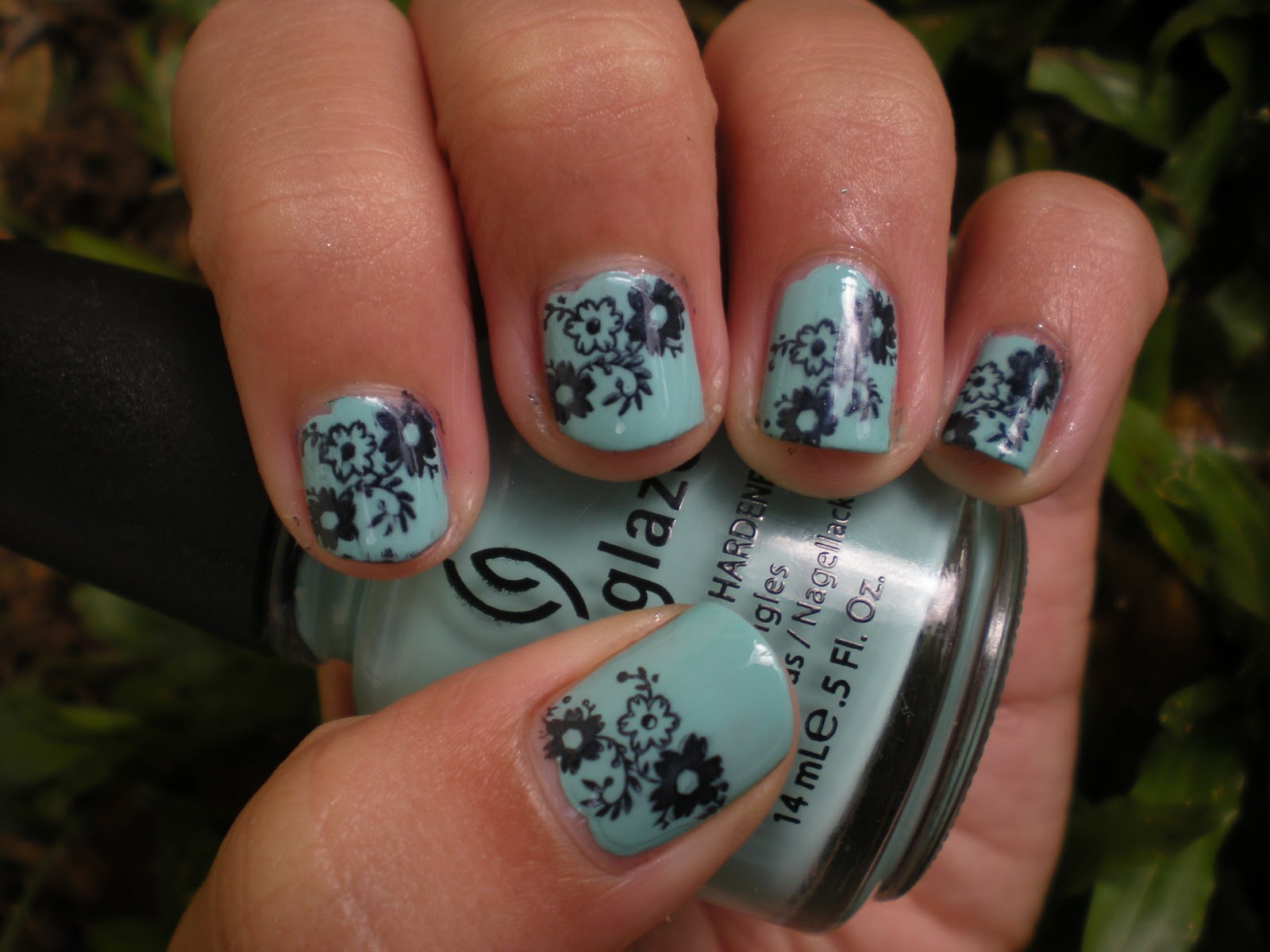 Posh For Polish For Audrey Cute Flower Design