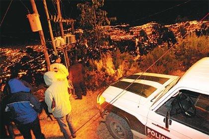 FOTO DE ATENTADO TERRORISTA DEL GOBIERNO EN SUCRE