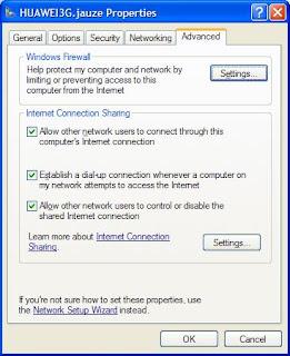 Membuat rangkaian (networking) untuk Wireless Broadband