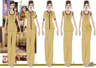 Sketches work samples for Spa uniform dubai