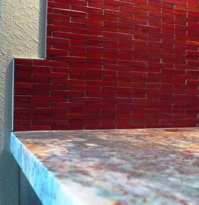 Backsplash For Red Kitchen Cabinets