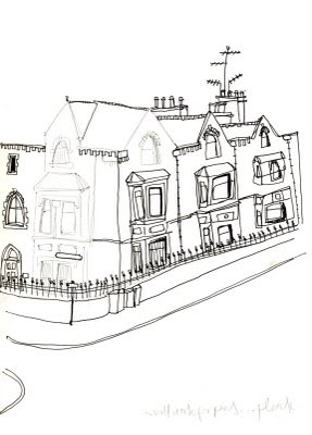 laura timmons:ARCHITECTURAL LINE DRAWING...