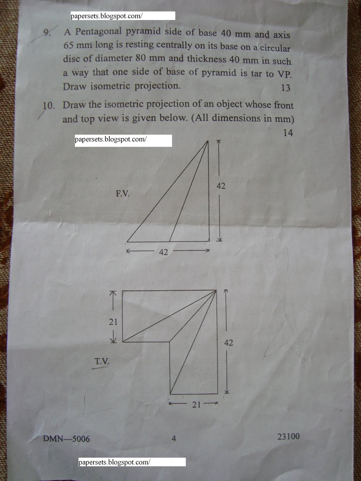Engineering (BE) 1st ED Question Paper Section A & B Nagpur University
