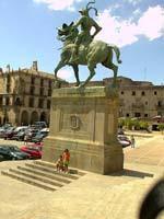 Estatua de Pizarro en Trujillo (Cáceres)