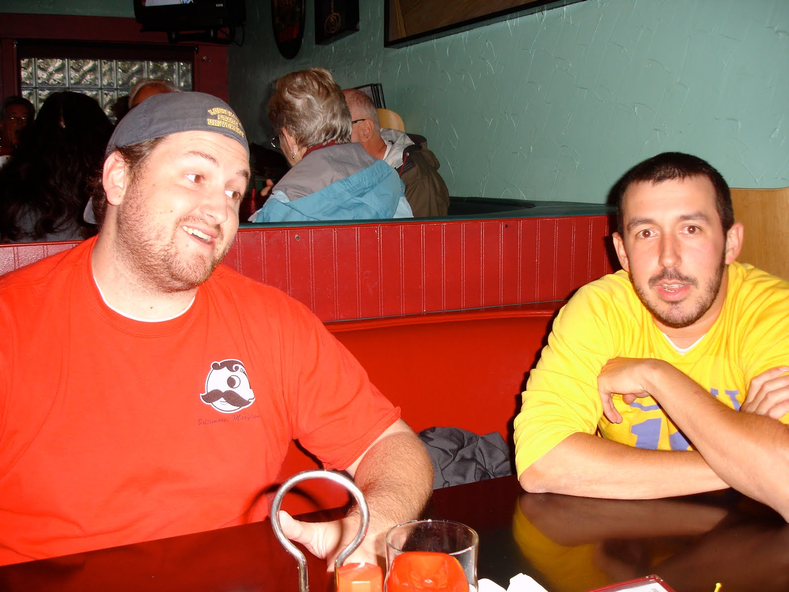 Jay Ducote and Eusebio Gongora await the Kodiak Arrest Challenge at Humpy's