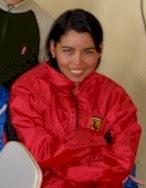 María, cuando aún no había egresado, a mediados de 2007