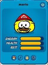 El Puffle Amarillo vestido de Mario