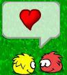 Unos puffles enamorados