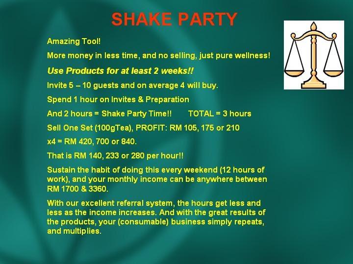 Personal Development Shake Party Formula X