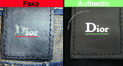 Fake Hunter Dior Homme Denim The Leather Tags