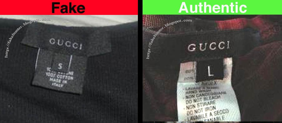 Fake Hunter Gucci Shirts Labels