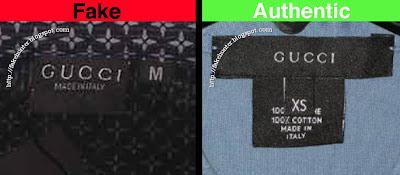 Fake Hunter GUCCI , Shirts labels