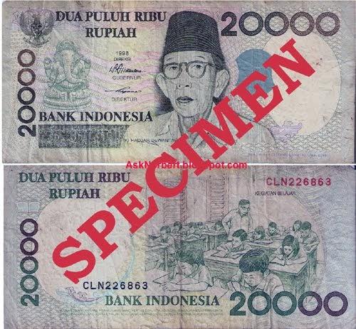 Ask Norbert : 20000 Dua Puluh Ribu Rupiah Indonesia 1998