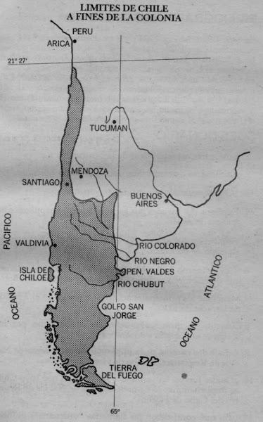 Frontera de Chile a fines de la Colonia