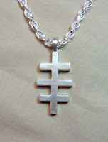 Custom jewelry made for you by Payne's Custom Jewelry.  Custom sterling siver cross pendant with a brushed finish.